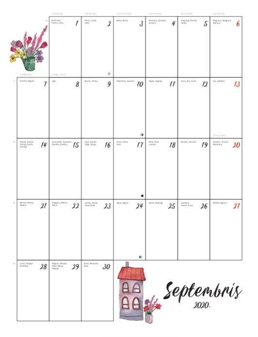 Ģimenes Kalendārs 2020. gadam