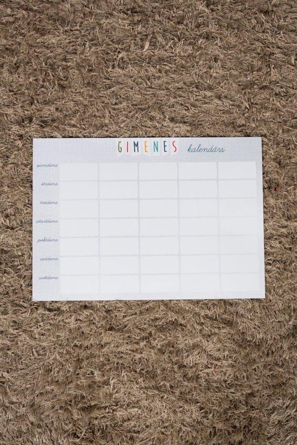 Magnētiskais Kalendārs A4 (pelēks) + marķieris
