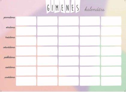 Magnētiskais Kalendārs A4 (krāsains) + marķieris