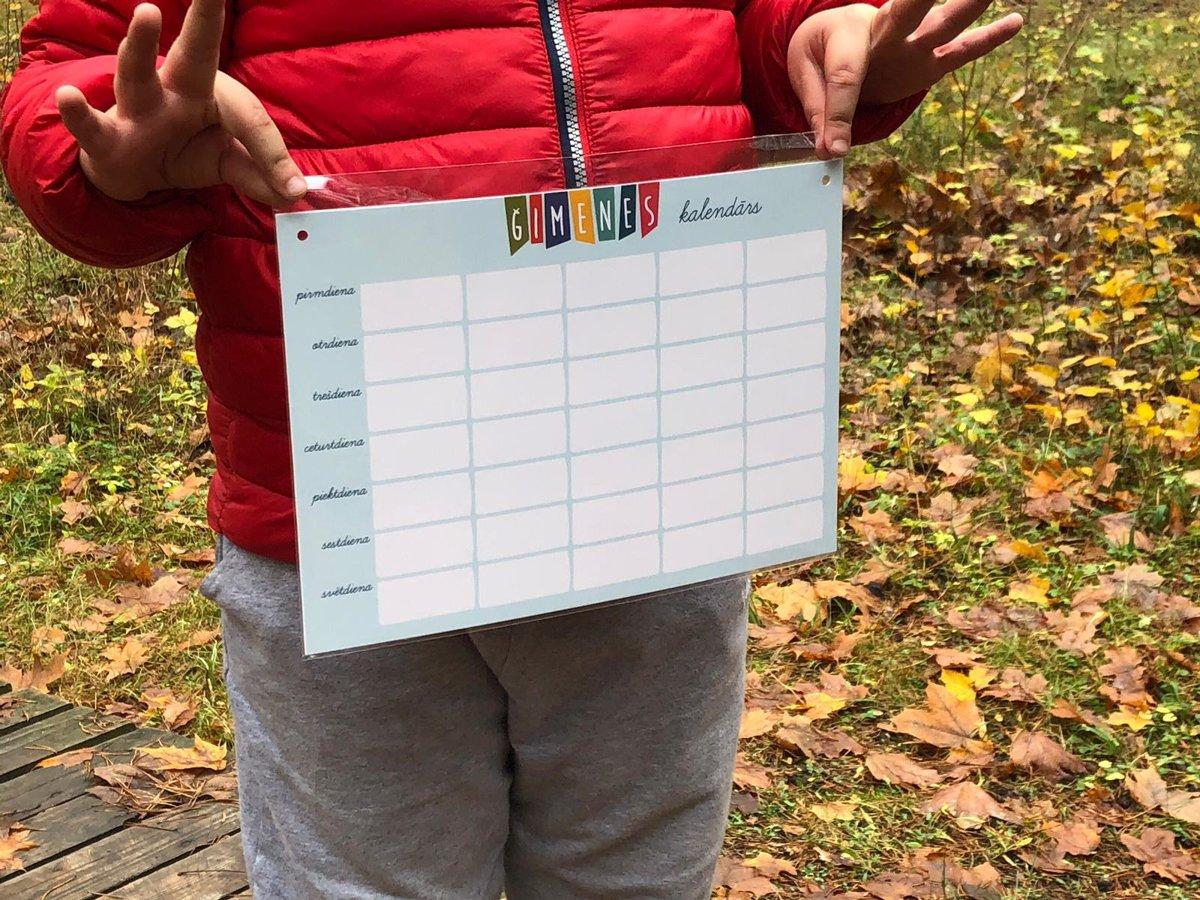 Kalendārs Tāfelīte A4 + marķieris (zila)